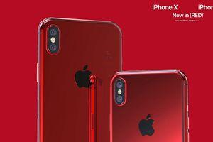 Bản dựng iPhone X và iPhone X Plus đỏ tuyệt đẹp
