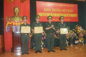 Quảng Bình: Thưởng nóng lực lượng đánh án phá đường dây buôn bán ma túy