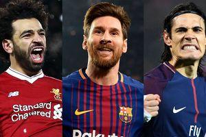 Cuộc đua Chiếc giày vàng châu Âu: Ronaldo, Messi 'hít khói' Salah
