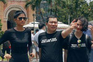 Hoa hậu H'Hen Niê bất chấp nắng rát, thử vai cho siêu phẩm hành động Việt