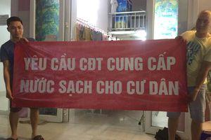 Cư dân KĐT Thanh Hà bị cắt nước vì treo băng rôn phản đối nước 'bẩn'