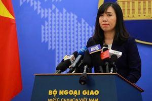 Việt Nam lên tiếng việc tập trận của Trung Quốc ở Biển Đông