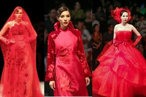 Khả Trang cùng hàng loạt người mẫu hóa 'cô dâu u buồn' trong BST với gam màu đỏ rực chủ đạo