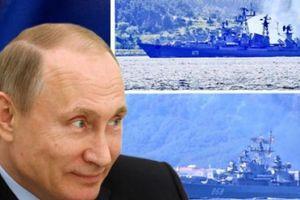 Putin điều thêm 2 tàu chiến đến Syria 'nắn gân' Mỹ, NATO
