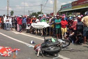 Long An: Xe tải đụng xe máy, một người chết, 2 bị thương
