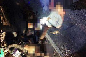 4 người trên 1 xe máy tử vong sau va chạm với ô tô tải