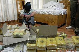 Bộ đội Biên phòng bắt kẻ vận chuyển 40 kg ma túy tổng hợp