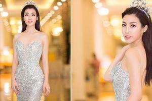 Hoa hậu Đỗ Mỹ Linh diện váy đuôi cá lộng lẫy tại dạ tiệc từ thiện