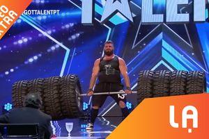 Người đàn ông nhấc 8 bánh xe tải tại Portugal Got Talent