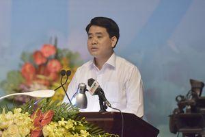 Chủ tịch Nguyễn Đức Chung đối thoại với công nhân lao động Thành phố