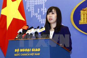Đề nghị phía Trung Quốc chấm dứt ngay các hoạt động xâm phạm chủ quyền Việt Nam