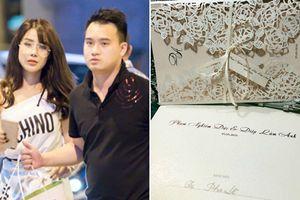Lộ thiệp cưới cầu kỳ của Diệp Lâm Anh và bạn trai thiếu gia