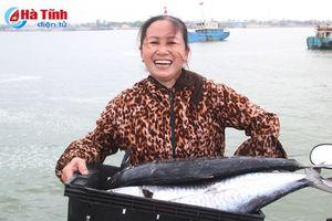 Ngư dân Xuân Hội trúng đậm cá thu