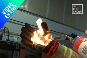 Găng tay công nghệ mới 'thách thức' cả dao, búa và lửa