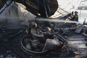 Quán cà phê ở Đà Lạt bị cháy, nhiều xe Vespa cổ bị thiêu rụi