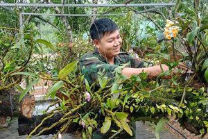 Ngỡ ngàng vườn lan rừng của các chiến sỹ quân hàm xanh