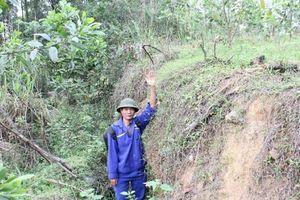 Thái Nguyên: Núi Tán sụt lún bất thường, người dân hoang mang