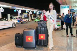 Á hậu Kiko Chan mang ba vali hơn 100 kg dự thi Miss Super Talent 2018