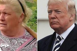 Bà trồng khoai bất ngờ nổi tiếng vì mặt giống ông Trump
