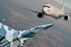 Tiêm kích Su-27 Nga áp sát trinh sát cơ Mỹ trên biển Baltic