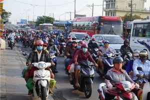 Giao thông tại thành phố Hồ Chí Minh ùn tắc cục bộ sau kỳ nghỉ lễ