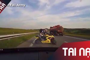 Những màn té ngã của 'đội quân' xe phân khối lớn