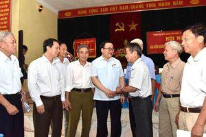 Bí thư Thành ủy Hà Nội Hoàng Trung Hải tiếp xúc cử tri huyện Ba Vì, thị xã Sơn Tây
