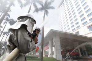 Diễn tập chữa cháy và cứu nạn, cứu hộ tại khách sạn Hà Nội Daewoo
