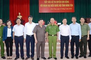 Thứ trường Lê Quý Vương tiếp xúc cử tri huyện Kim Động, Yên Mỹ
