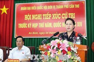 Chủ tịch Quốc hội tiếp xúc cử tri tại quận Ninh Kiều, Cần Thơ