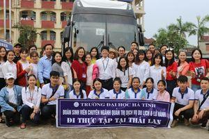Sinh viên Trường Đại học Hà Tĩnh thực tập tại Thái Lan