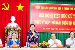Chủ tịch Quốc hội giải đáp nhiều vấn đề nóng với cử tri Cần Thơ