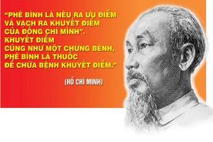 Nâng cao chất lượng tự phê bình và phê bình ở chi bộ theo tư tưởng Hồ Chí Minh