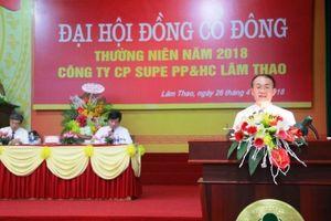 Hóa chất Lâm Thao đặt mục tiêu doanh thu hơn 4.400 tỷ đồng