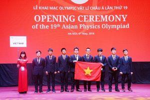 Thí sinh 25 quốc gia, vùng lãnh thổ dự thi Olympic Vật lí châu Á