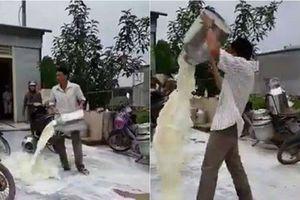 Vợ người đổ hàng chục lít sữa bò tươi ra đường để đòi lại công bằng nói gì?