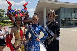 Á hậu Kiko Chan nổi bật với trang phục truyền thống tại Miss Super Talent 2018