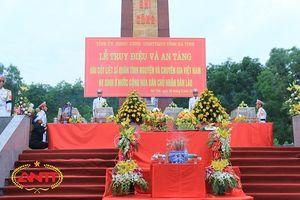 Hà Tĩnh: Tổ chức truy điệu và an táng 12 hài cốt liệt sỹ quân tình nguyện