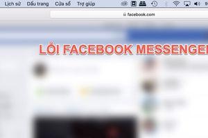 Người dùng Facebook báo cáo lỗi tin nhắn trên trình duyệt máy tính