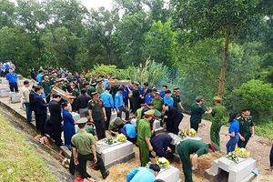 Hà Tĩnh: An táng 12 hài cốt liệt sĩ hy sinh tại Lào về nghĩa trang Nầm