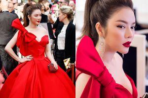 Lý Nhã Kỳ khoe ngực đầy khi hóa công chúa Lọ Lem trên thảm đỏ Cannes ngày khai mạc
