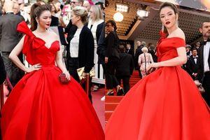Lý Nhã Kỳ diện đầm đỏ lộng lẫy, hóa công chúa trên thảm đỏ khai mạc Cannes 2018