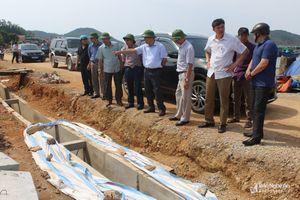Quỳnh Lưu đốc thúc tiến độ công trình trọng điểm trước mùa mưa bão 2018