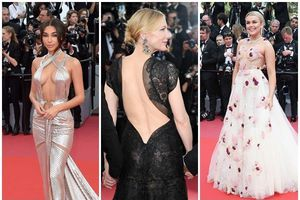 Thảm đỏ Cannes tràn ngập khoe thân, hở bạo