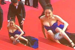 Hoa hậu Trung Quốc giả vờ ngã để thu hút ống kính tại LHP Cannes