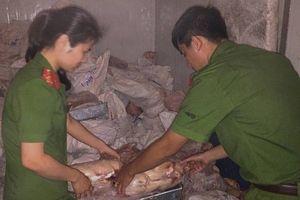 Nghệ An: Phát hiện kho đông lạnh trữ gần 5 tấn thực phẩm bẩn