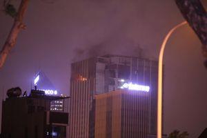Hà Nội: Cháy lớn ở tòa nhà MB Grand Tower trên đường Lê Văn Lương