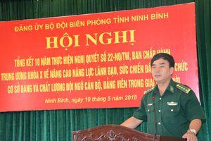 Đảng ủy BĐBP Ninh Bình tổng kết 10 năm thực hiện Nghị quyết số 22-NQ/TW