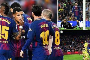 Messi và tân binh rủ nhau ghi bàn, Barcelona thắng 'hủy diệt'