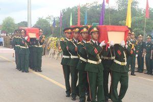 Quảng Trị: An táng 22 hài cốt liệt sĩ hy sinh tại Lào